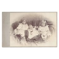 Victorian Cabinet Photograph, Three Children