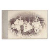 Victorian Cabinet Photograph, Three Children