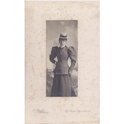 Detailed Photograph of Victorian Lady in Tailored Suit