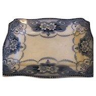 Lovely Flow Blue Platter, DOUGLAS, Ford & Sons, c. 1891