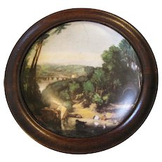 Lovely Collectible Pot Lid with Landscape