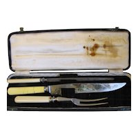 Vintage English Carving Set in Box, Justice, Dundee