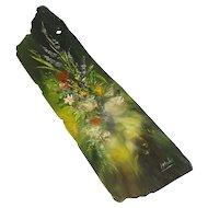 """Lovely Folk Art Painting on Slate, Signed """"Blackie"""""""
