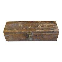 Small Early Home-Made Box, Folk Art