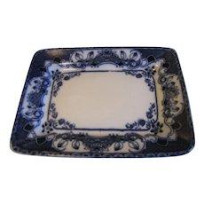 Lovely Small Rectangular Flow Blue Platter