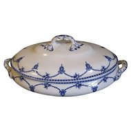 Lovely Vintage Blue & White Vegetable Bowl, KINGSTON