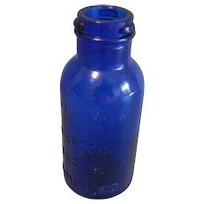 Colbalt Blue Glass Bromo Seltzer Bottle