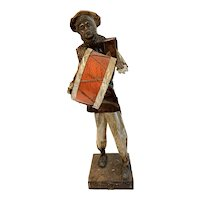 Collectible Mexican Paper Mache Figure, Man with Drum
