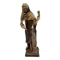 Collectible Mexican Paper Mache Figure, Woman