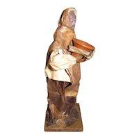 Vintage Folk Art Mexican Paper Mache Figure