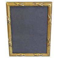 Vintage Stamped Brass Photograph Frame w/Stand
