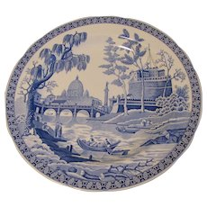 Collectible Blue & White Plate, ROME