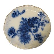 Lovely Flow Blue Plate, Chrysanthemums
