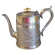 Vintage English Silver Plate Coffee Pot, SHEFFIELD