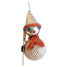 Vintage Christmas Ornament, Silver Snowman