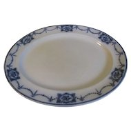 Lovely Flow Blue Platter, Cetem Ware, C. T. Maling, LESBURY