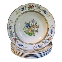 Lovely 1910 Copeland Spode CHINESE ROSE Soup Plate