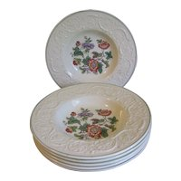 Group of 6 Rimmed Soup Plates, Wedgwood TAPESTRY