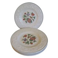 Group of 5 Dessert Plates Wedgwood TAPESTRY