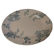 Very Nice Small Platter, CASTELAR, Green Transfer