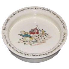 Vintage Baby Dish Wedgwood PETER RABBIT