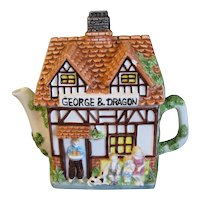 Collectible Decorative English Cottage Teapot, Leonardo