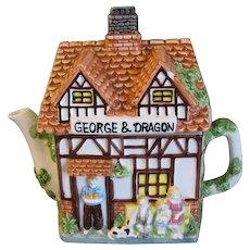 Collectible Decorative English Cottage Teapot, Leonardo