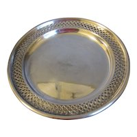 "Lovely Pierced Silver Plated 8"" Plate (3 Avail)"