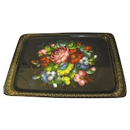 Gorgeous Vintage Russian Tole Tray, Ueha