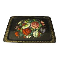 Goreous Vintage Russian Tole Tray, Ueha
