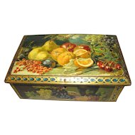 Colorful Vintage Fruit Still Life Tin