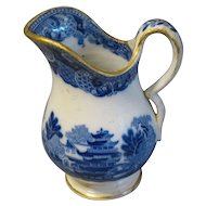 Lovely Vintage Blue Willow Pitcher, Butterfly Border