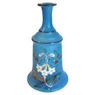 Small Blue Bristol Glass Perfume Decanter, Vase
