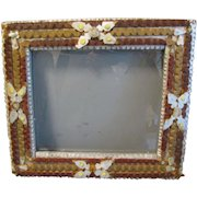 Unusual Antique Tramp Art Frame, Painted