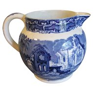 Lovely Flow Blue Milk Jug (Pitcher) ABBEY