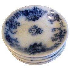 Flow Blue Butter Pat, ELSIE, New Wharf Pottery