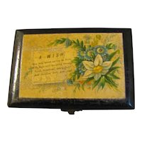 Small Black Mauchlin Ware Box, A WISH