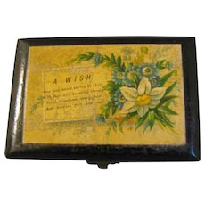 Small Black Mauchlin Ware Box, A WISH