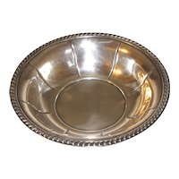 Small Sterling Silver Nut Dish, Vintage
