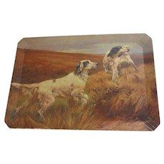 Vintage Coronet Haskelite Tray, Hunting Dogs