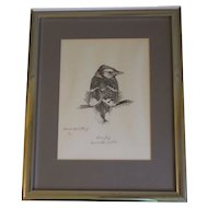 Vintage Limited Edition Print BLUE JAY Robert L. Smith