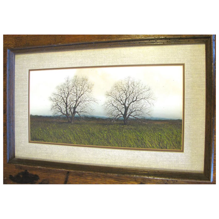 Lovely Framed Print By 2006 Official Texas Artist George Boutwell Judy S Lovelies Ruby Lane