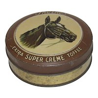 Vintage Small Round Toffee Tin, Thorne's,  Horse