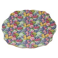 Lovely Royal Winton Chintz Plate, JULIA