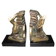 Joseph B. Hirsch Co. Bookends MAN WITH BOOKS 1930