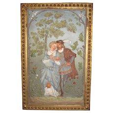 Gorgeous Antique Bradley & Hubbard Cast Iron Wall Plaque, Original Paint