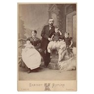 Wonderful View of Prosperous Family in the Cabinet Photograph Card