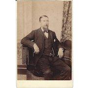 Cabinet Photograph Card, Distinguished Gentleman CA 1894