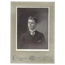 Cabinet Photo Card of Young Gentleman, Coleman Photographer