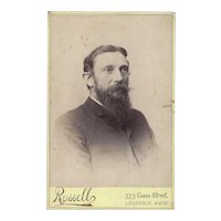 Cabinet Photograph Card, Bearded Gentleman, Russell, Mass